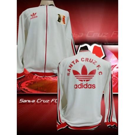 Camisa retrô Santa Cruz branca Banorte 1986
