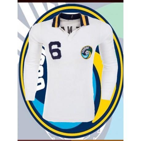 Camisa retrô Cosmos de Nova York branca gola redonda- 1977