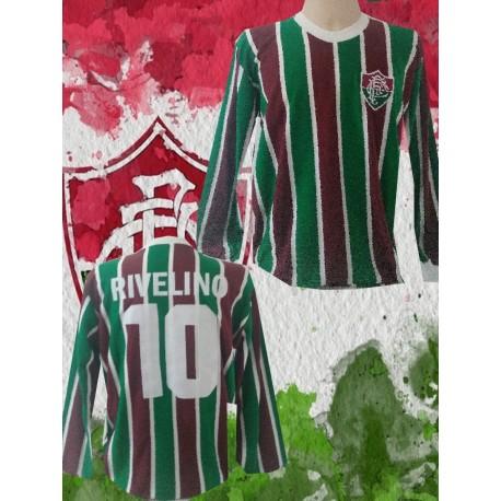 Camisa retrô Fluminense 1980 manga longa