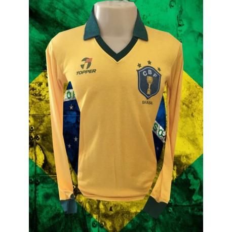 Camisa Seleção 1986 Topper gola polo