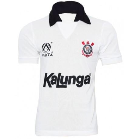 Camisa retrô Corinthians 1990-91 finta branca
