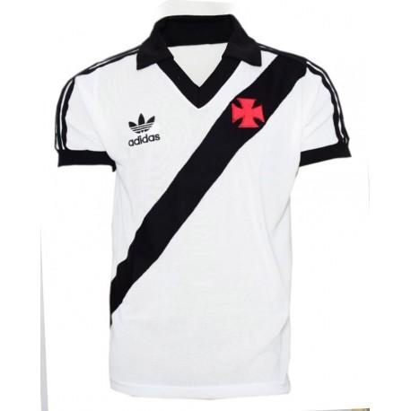 Camisa retrô Vasco branca logo - 1988