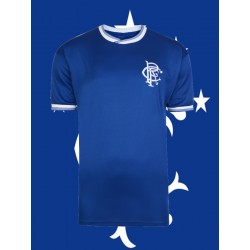 Camisa Retrô Glasgow Rangers gola polo ESC