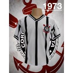 Camisa retrô Corinthians FINTA kalunga manga curta