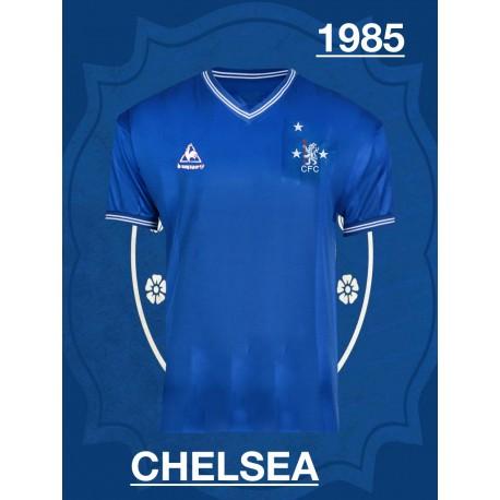 Camisa retrô Chelsea branca 1980 - ENG