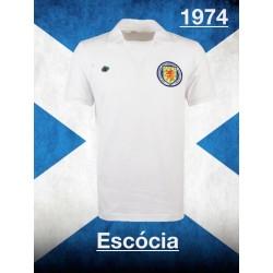 Camisa retrô Escocia tradicional gola polo