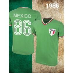 Camisa retrô Mexico logo verde - 1986