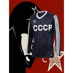 Camisa Retró Russia preta ML gola redonda