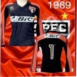 Camisa retrô São Paulo campeão Paulista - 1987 Bic Tricolor