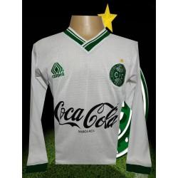 Camisa retrô Coritiba 1989 branca campeâo