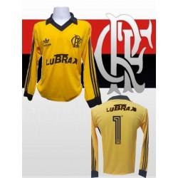 Camisa retrô Flamengo goleiro verde lubrax 1987-92