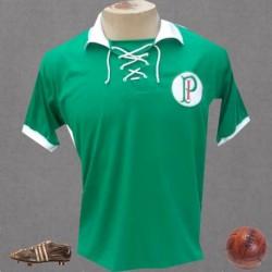 Camisa retrô Palmeiras palestra Italia cordinhas
