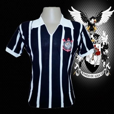 Camisa retrô baby look Corinthians tradicional