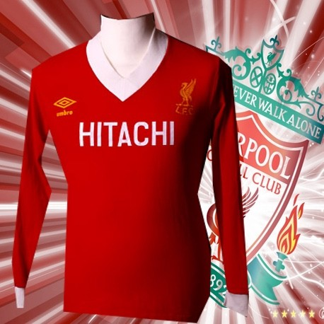 Camisa Retrô Liverpool ML Hitachi- ENG 049bb8f712e8f