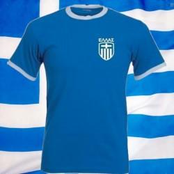Camisa Retrô Grécia azul 1970- gola redonda