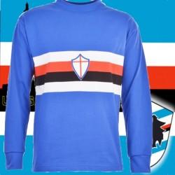Camisa retrô Sampdoria de Genoa ML gola redonda - ITA