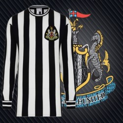 Camisa retrô Newcastle ML gola redonda - ENG