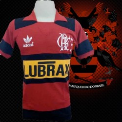 Camisa retrô Flamengo Lubrax amarelo- 1980