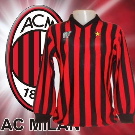 Camisa retrô Milan 1963 manga longa branca- ITA