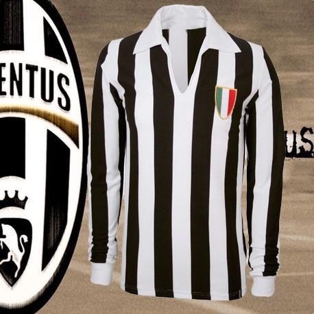 Camisa retrô Juventus manga longa 1979-80