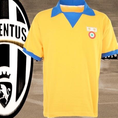 Camisa Retrô Juventus de Turim amarela 83-84