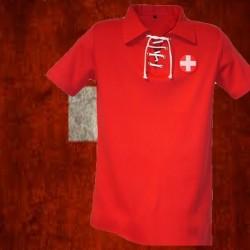 Camisa retrô da Suiça branca - SUI