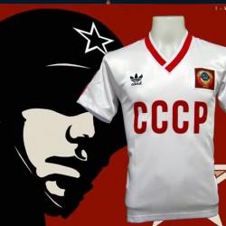 Camisa retrô CCCP vermelha logo 1980