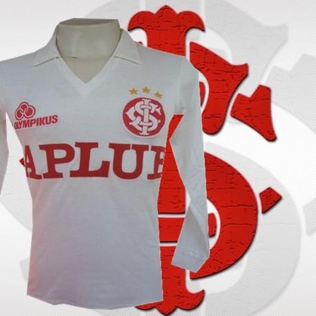 Camisa retrô Internacional Olimpikus ML - Aplub branca 181fd3c54fe9f