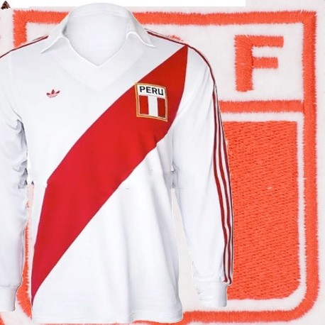 Camisa retrô Peru ML - 1978