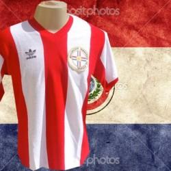 Camisa retrô Paraguai tradicional -1980