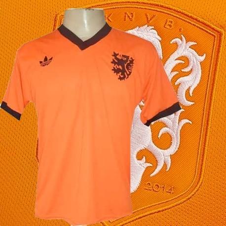 Camisa retrô Holanda logo laranja-1987