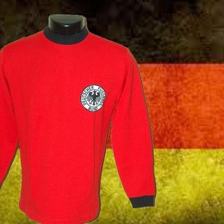 5fd04b6655ac4 Camisa retrô Verde Seleçao da Alemanha ML- 1980 listrada