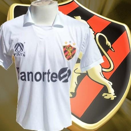 20912a97d2323 Camisa retrô Sport clube Recife branca banorte - Camisas de Clubes ...