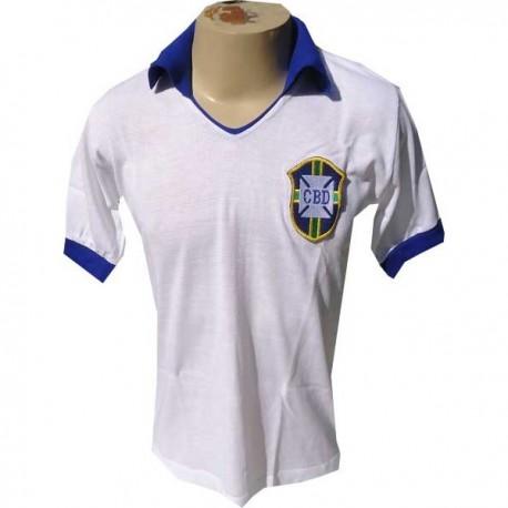 Camisa Retrô Seleção Branca 1950