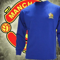 Camisa retrô Manchester United Azul Georges best ML - ENG