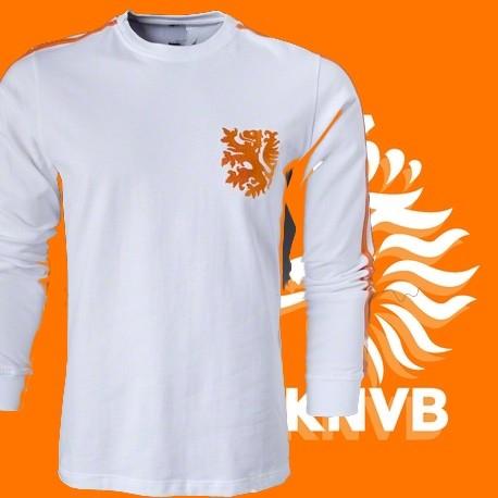 Camisa retrô Holanda branca - 1978