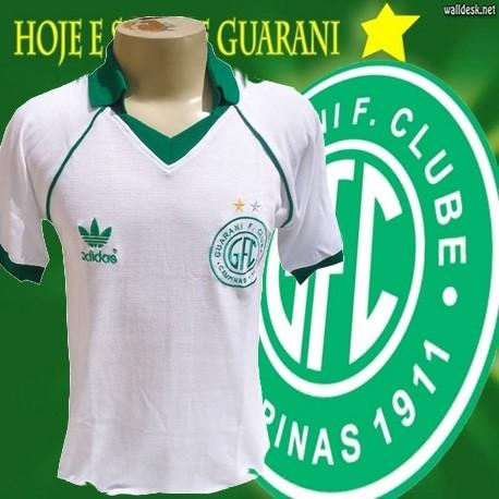 Camisa retrô Guarani branca - 1986 - Camisas de Clubes Futebol Retro.com 9c30bd88230a0