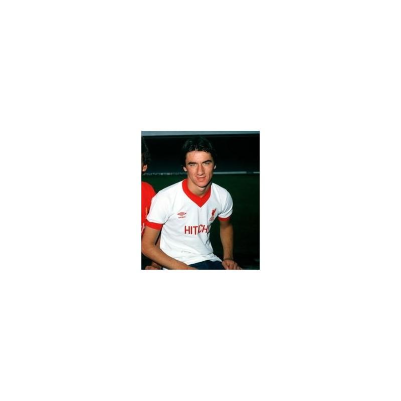 6520749a27 ... Camisa retrô Liverpool Hitachi branca 1978 - ENG ...