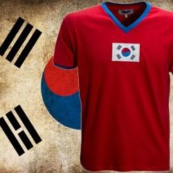 Camisa retrô Coreia 1954 - vermelha