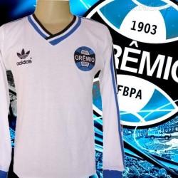 - Camisa retro branca Grêmio - 1983 manga longa
