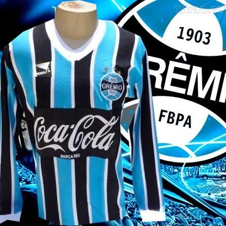 9584f613af40c - Camisa retrô Grêmio ML coca preta - 1988