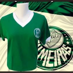 Camisa retrô Baby look Palmeiras - tradicional