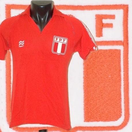Camisa retrô Peru vermelha- 1978
