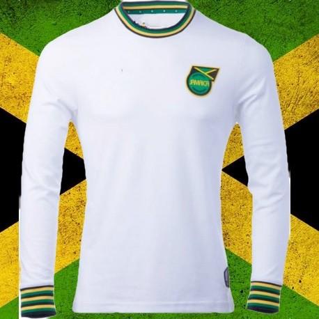 a53be341a0 Camisa Retrô Jamaica branca ML - Camisas de Clubes Futebol Retro.com
