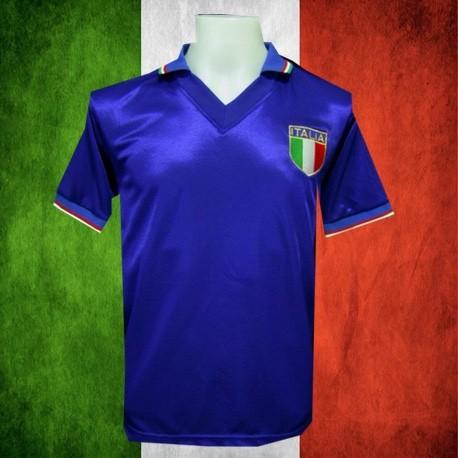 b7a25bda5d Camisa Retrô da Italia Paolo Rossi - - Camisas de Clubes Futebol ...