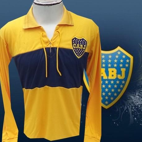Camisa Retrô Boca Junior cordinha ML amarela- ARG
