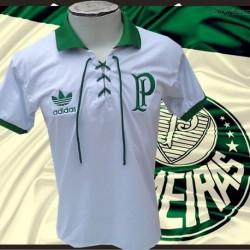 Camisa retrô Palmeiras Centenario branca