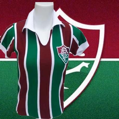 Camisa retrô Baby look tradicional Fluminense