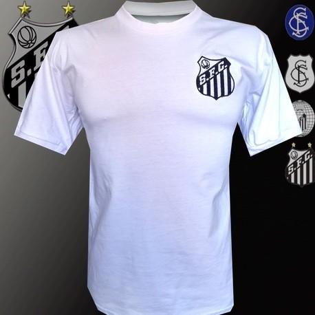Camisa Retrô Santos gola redonda - 1960
