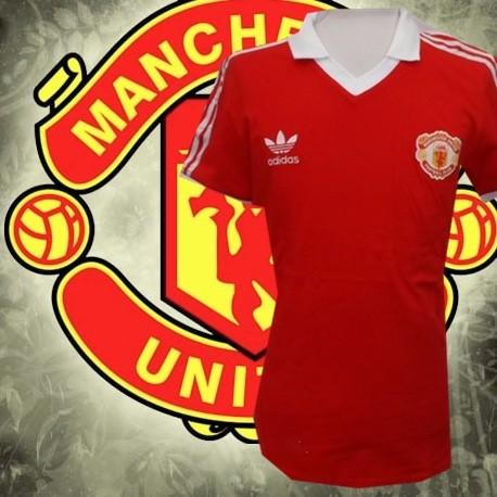 Camisa retrô Manchester United vermelha - ENG